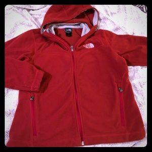 Red Northface Hoodie Jacket